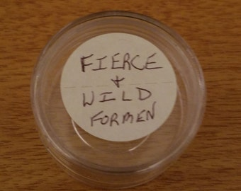 Men's FIERCE & WILD Cream Lotion, essential oils bath and body skincare, Travel Sample Size Hand And Body Lotion