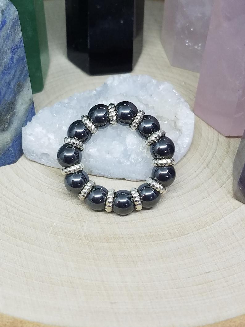 Hematite Crystal Stacking Rings Hematite Ring Hematite Thumb image 0