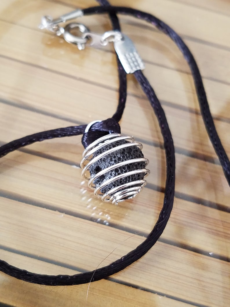 Aromatherapy DIFFUSER NECKLACE Lava Stone Diffuser Necklace image 0