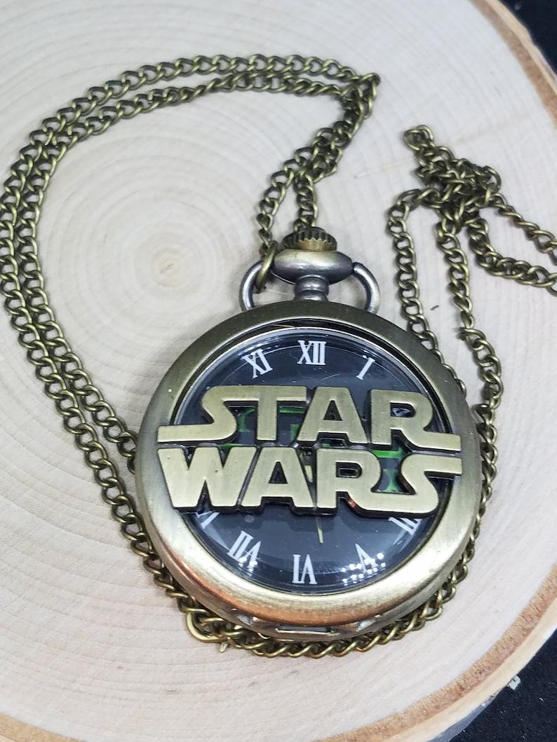Star Wars Pocket Watch Pocket Watch Necklace Mens Watch image 0