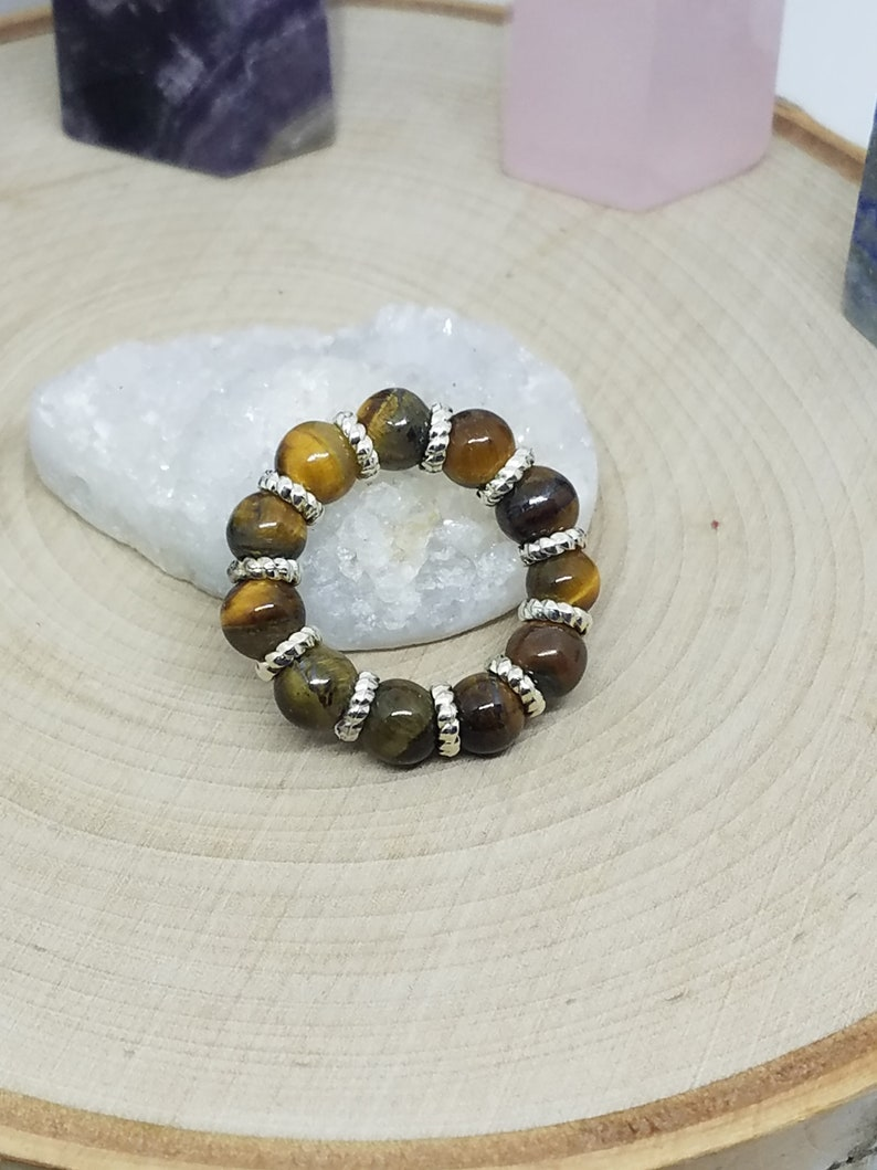 Tigers Eye Ring Tigers Eye Thumb Ring Tigers Eye Protection image 0