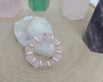 Rose Quartz Ring, Rose Quartz Crystal Ring, Rose Quartz Thumb Ring, Rose Quartz Meditation Ring, Rose Quartz Meditation Ring,Celestial Rings