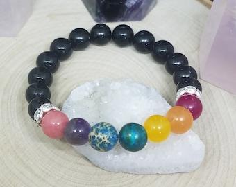7 Chakra Bracelet, Empath Protection Crystal Bracelet, Third Eye Empath Bracelet, Empath Protection Chakra Bracelet, Pride Bracelet