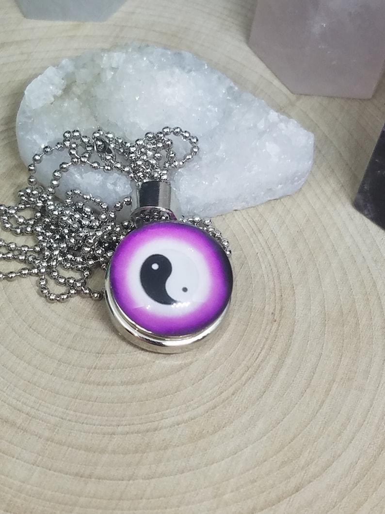 Yin Yang Pendant Necklace Yin Yang Snap Necklace Yin Yang image 0