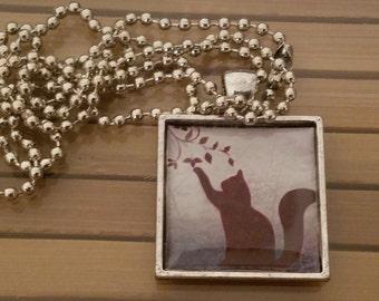Cat Necklace, Cat Pendant Necklace, Cat Photo Pendant, Cat Photo Necklace, Cat Lover Gift, Cat Charm Photo Necklace, Kitty Photo Necklace