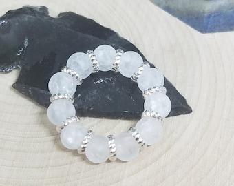 Quartz Crystal Stretch Rings, Quartz Crystal Stacking Rings, Raw Crystal Ring, Quartz Crystal Stone Ring, Raw Stone Ring,Quartz Crystal Ring