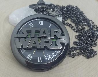 Fob Watch Necklace, Star Wars Pocket Watch, Star Wars Gifts, Pocket Watch Necklace, Pocket Watch Pendant, Vintage Watch, Star Wars Mens Gift