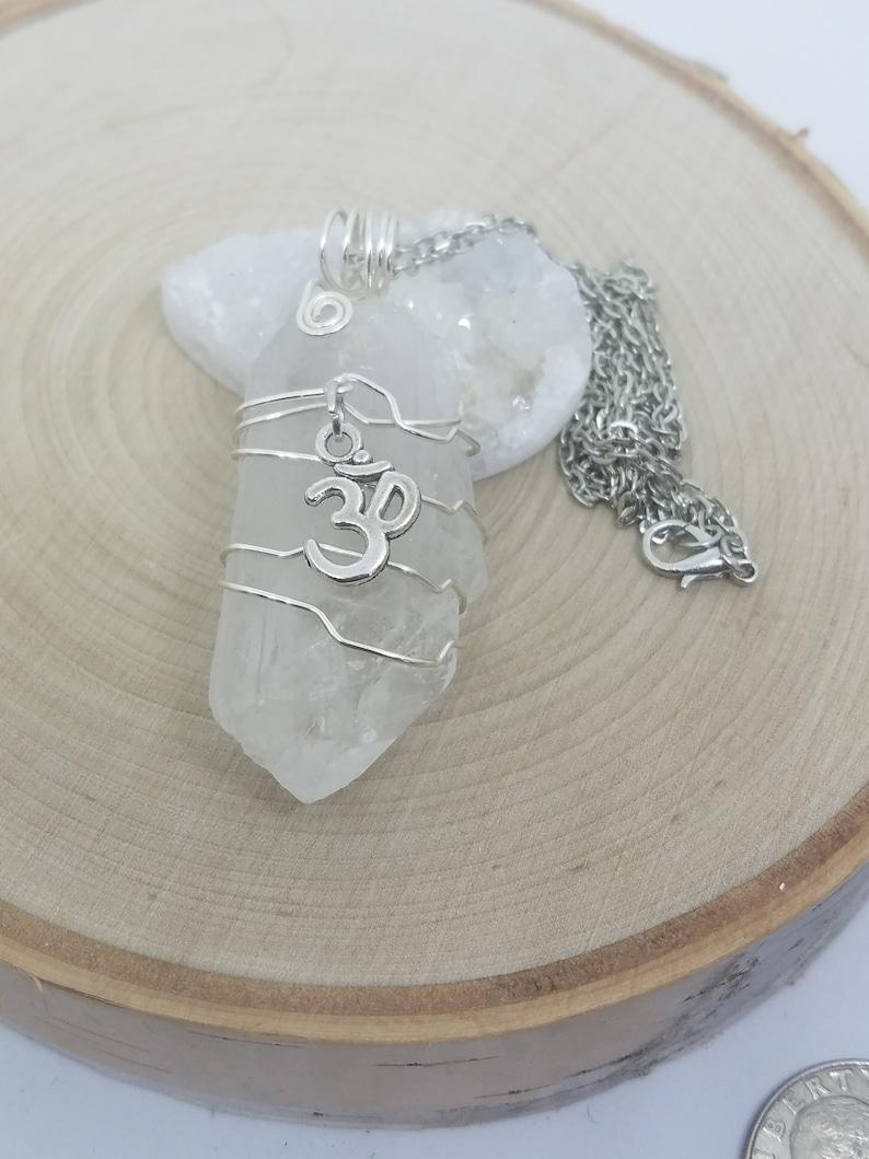 Crystal Point Quartz Necklace Crystal Pendulum Necklace image 0