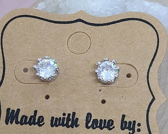 Sterling Silver Stud Earrings, Silver Stud Earrings, Silver Crystal Earrings, Sterling Silver Earrings, Sterling Silver Statement Earrings