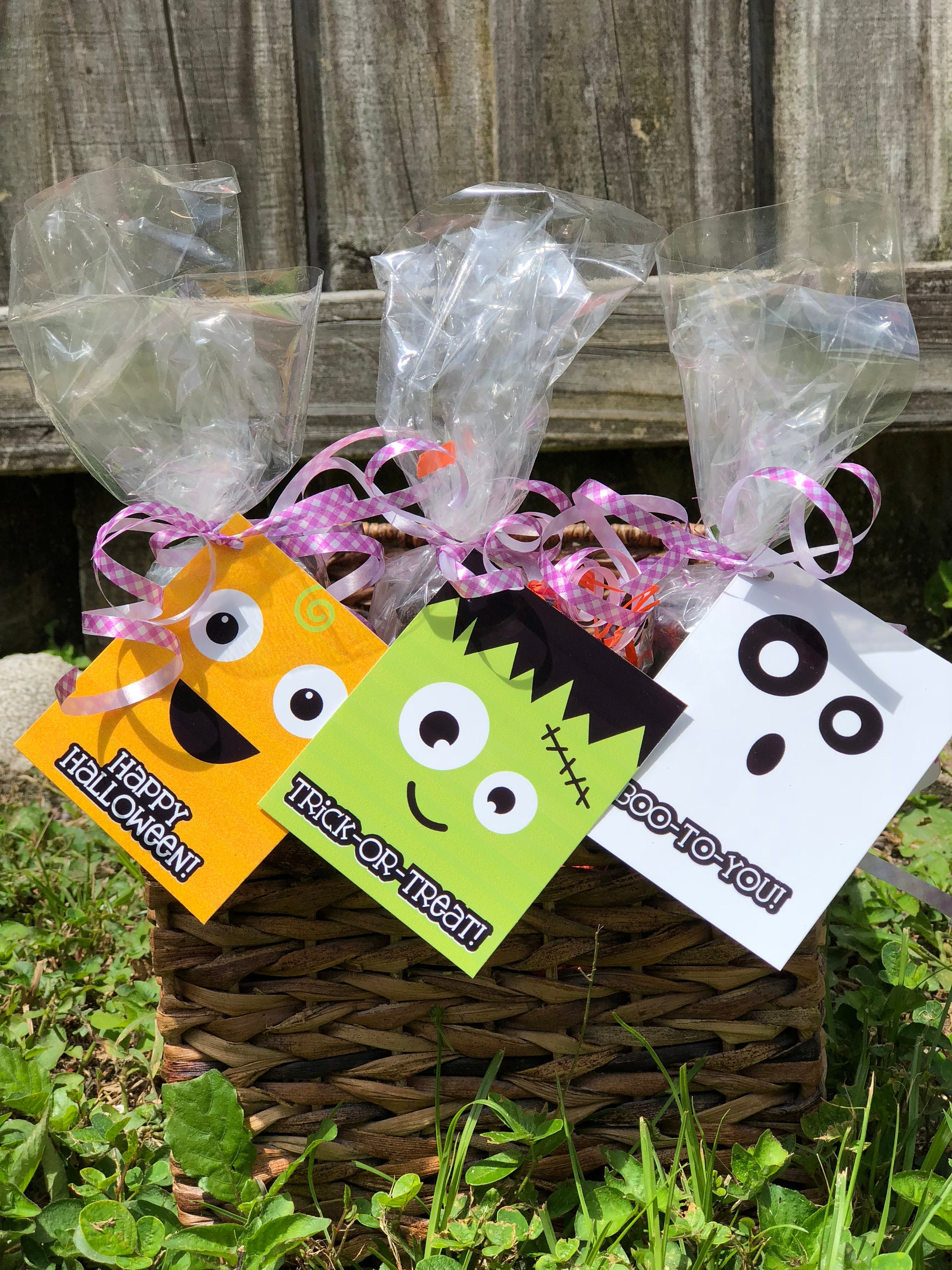halloween treat bag tags - halloween favor tags - halloween