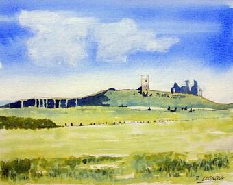 Dunstanburgh castle - fine art print