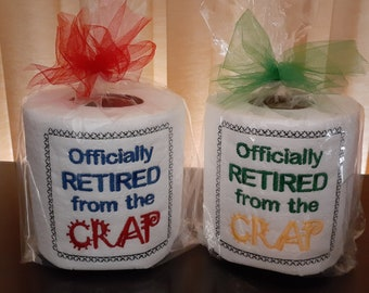 EMBROIDERED Toilet Paper - Specialty toilet paper - Bathroom Decor - Retired - Gag Gift