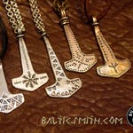 Custom-forged Mjölnir pendant in silver or bronze