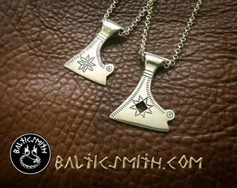 "Your PERSONAL BESPOKE DESIGN: Viking Age Baltic/Finnic/Slavic Votive Axe Charm  ""Axe of Perun"""