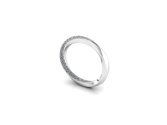 df4b041f200 MOBIUS  Endless Diamond Mobius Strip Wedding Band in your