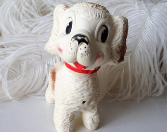 Vintage squeaky toy dog Edward Mobley Arrow Rubber cute 50s retro puppy dog doll squeak squeaker toy