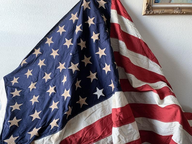 9df9b576f5e Vintage 48 star flag USA stitched stripes stars american red