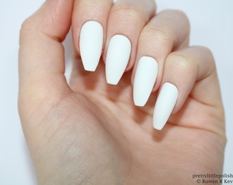 Acrylic Nails Coffin Powder White Pictures Www Picturesboss Com