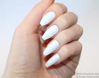 White Coffin Nails Nail Designs Art Stiletto Acrylic Fake False