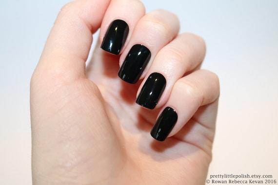 Black Short Square Nails Nail Designs Nail Art Nails
