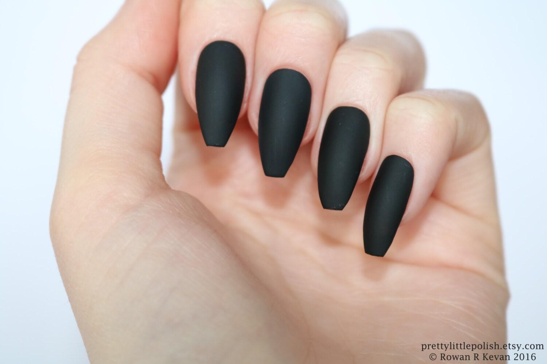 Matte black coffin nails, Nail designs, Nail art, Nails, Stiletto ...