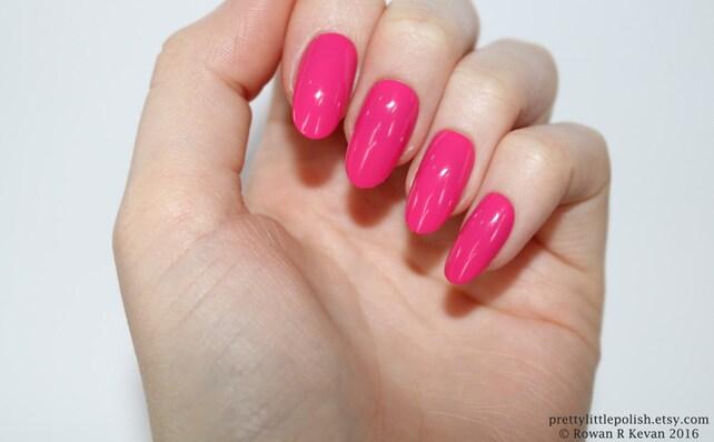 Pink Oval Nails Nail Designs Nail Art Nails Stiletto Etsy