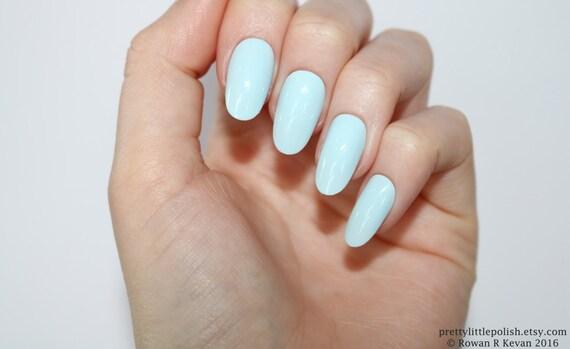 Pastel blue oval nails, Nail designs, Nail art, Nails, Stiletto nails,  Acrylic nails, Oval nails, Fake nails, False nails