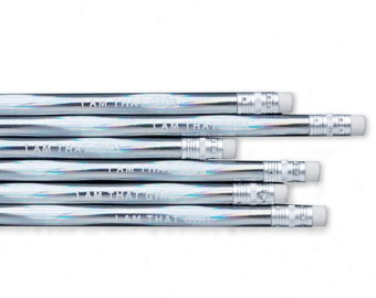 Pencil Set - I Am That Girl Holographic Pencils / Office Supplies