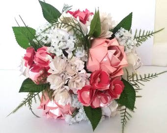 Origami flowers etsy paper origami flowers wedding anniversary bouquet roses peonies gypsophilia mightylinksfo