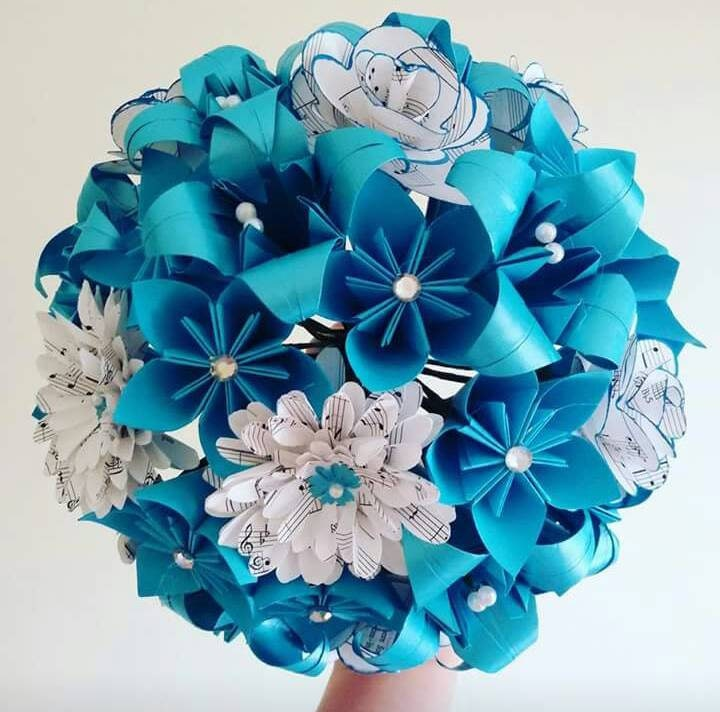 Origami Wedding Flowers: Paper Flowers Origami Bouquet Wedding Bridal Alternative