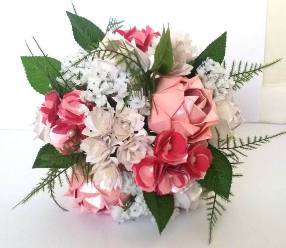 Paper origami flowers wedding anniversary bouquet roses etsy mightylinksfo