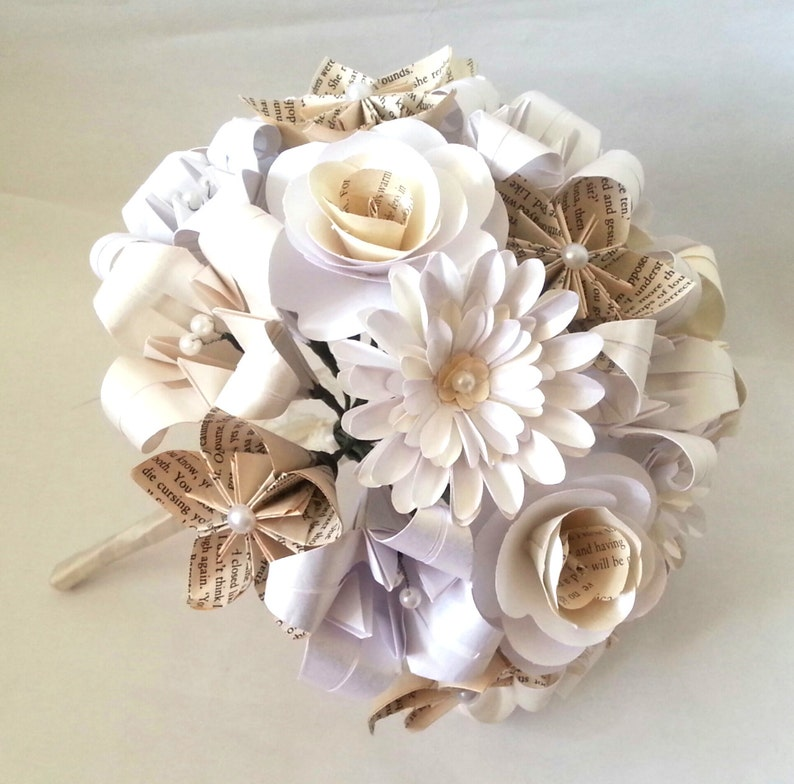 Paper Flowers Origami Bouquet Wedding Bridal Alternative Roses Etsy