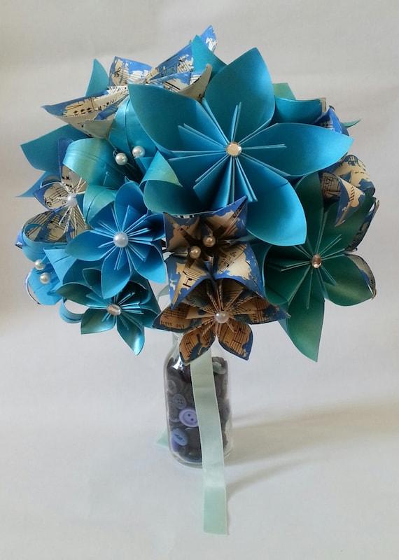 Matrimonio Tema Origami : Origami fiore di carta matrimonio tema alternativo bouquet etsy