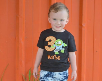 Zombie Bithday shirt - Monster Mash Birthday - Monster theme Birthday - Halloween Birthday shirt - Personalized Birthday Shirt