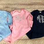 Newborn personalized gowns, Baby going home outfit, Monogrammed baby outfit, Baby Shower Gift, Baby boy, Baby girl gift