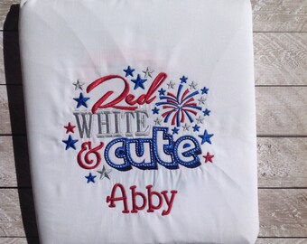 Fourth of July-Red white and cute Applique shirt-girl Fourth of July shirt-girl firework shirt-girl personalized shirt-fourth of July shirt-