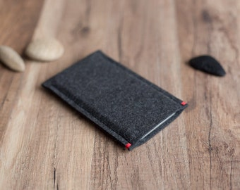 OnePlus case cover sleeve - anthracite felt with colour accent