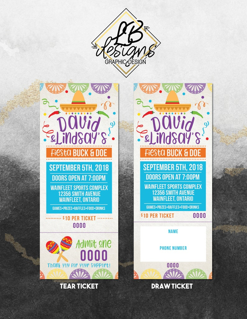 Stag & Doe Ticket - Fiesta Themed