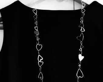 Hearts Silver Necklace...77 ways to say I love You