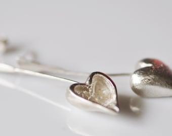 Silver Heart Earings... Fill Up My  Heart!