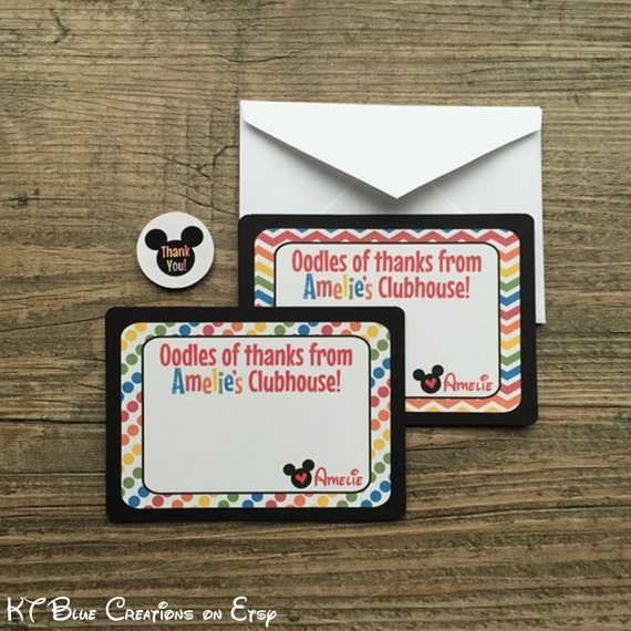 Mickey Mouse Clubhouse Thank You Cards With Envelopes Sticker