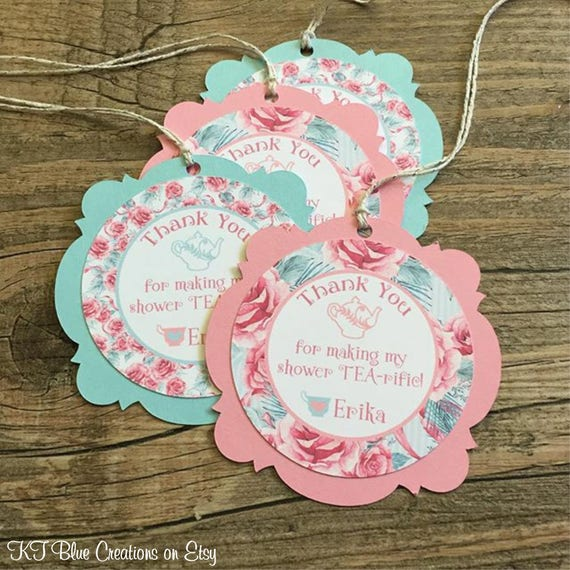 Bridal Shower Tea Party Favor Tags Bridal Shower Tags Bridal