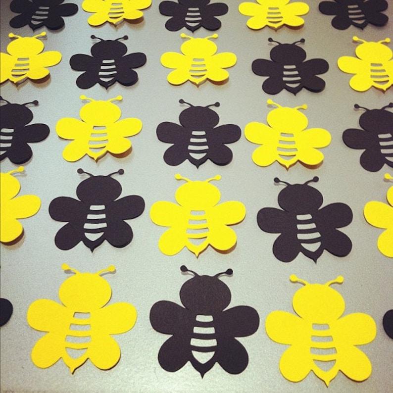 40 Bumble Bee Die Cuts - 2