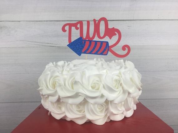 Sensational 4Th Of July Age Cake Topper 4Th Of July Birthday 2Nd Birthday Funny Birthday Cards Online Necthendildamsfinfo