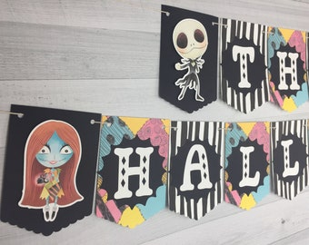 This Is Halloween Banner - Nightmare Banner - Christmas Nightmare Birthday - Halloween Banner - Cute Nightmare Birthday - Halloween Party