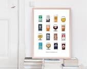BESTSELLER Beers of Rochester Print Poster
