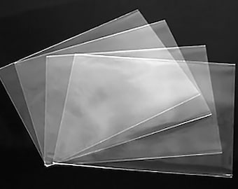 Clear sleeves etsy clear no flap greeting card and notecard sleeves packs of 100 pieces choice of 4 different sizes m4hsunfo