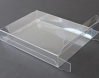 A2 clear plastic greeting card boxes set of 25 4 12 a7 clear plastic greeting cards boxes set of 25 5 38 x 7 38 choice of 4 different depths m4hsunfo