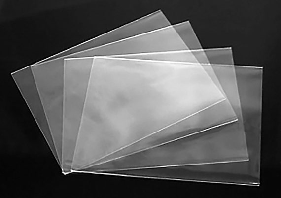 Clear no flap greeting card and notecard sleeves packs of 100 etsy image 0 m4hsunfo