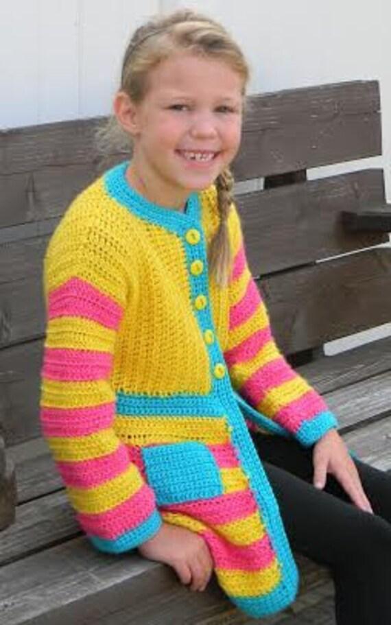 Goody Gumdrops Coatigan Child Pdf Pattern Only Winter Etsy